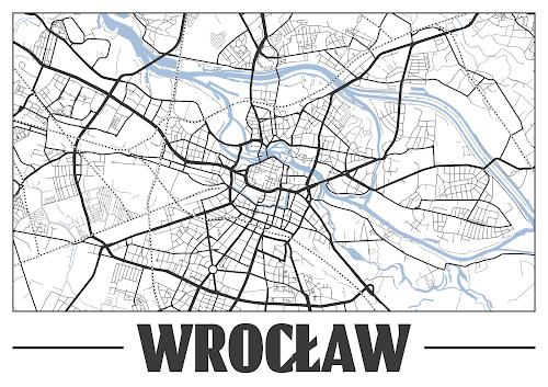 Plakat plan miasta Wrocław