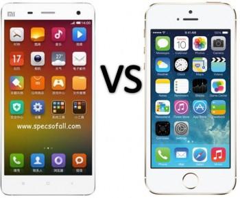Xiaomi mi4 và iPhone 5s lock
