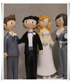 Castello dei Solaro - cake topper nozze gay