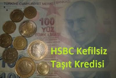 HSBC Kefilsiz Taşıt Kredisi