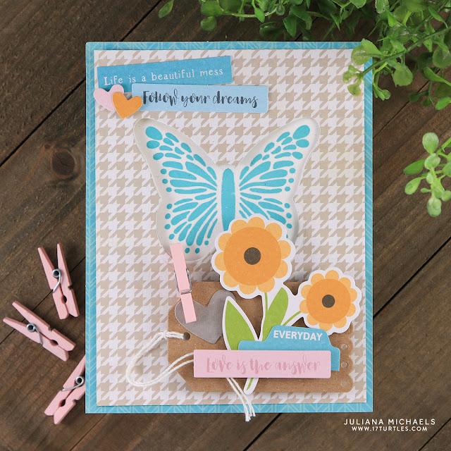 Follow Your Dreams Butterfly Card by Juliana Michaels featuring Jillibean Soup Spoonful of Soul