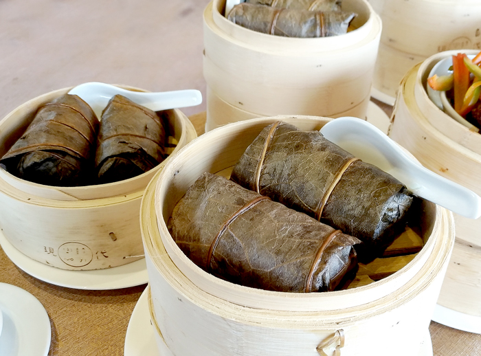 Dimsum, Glutinous rice wrapped in lotus leaves