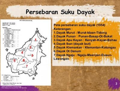 Persebaran suku-suku Dayak di Pulau Kalimantan