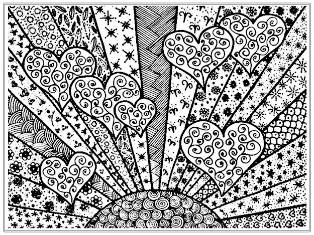 Shining Heart Adult Free Coloring Pages