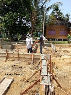 Rumah Idaman : Kerja Memasang dan Menuang Simen untuk Beam Bawah