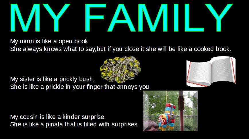 Aysha Simile Poetry My Family
