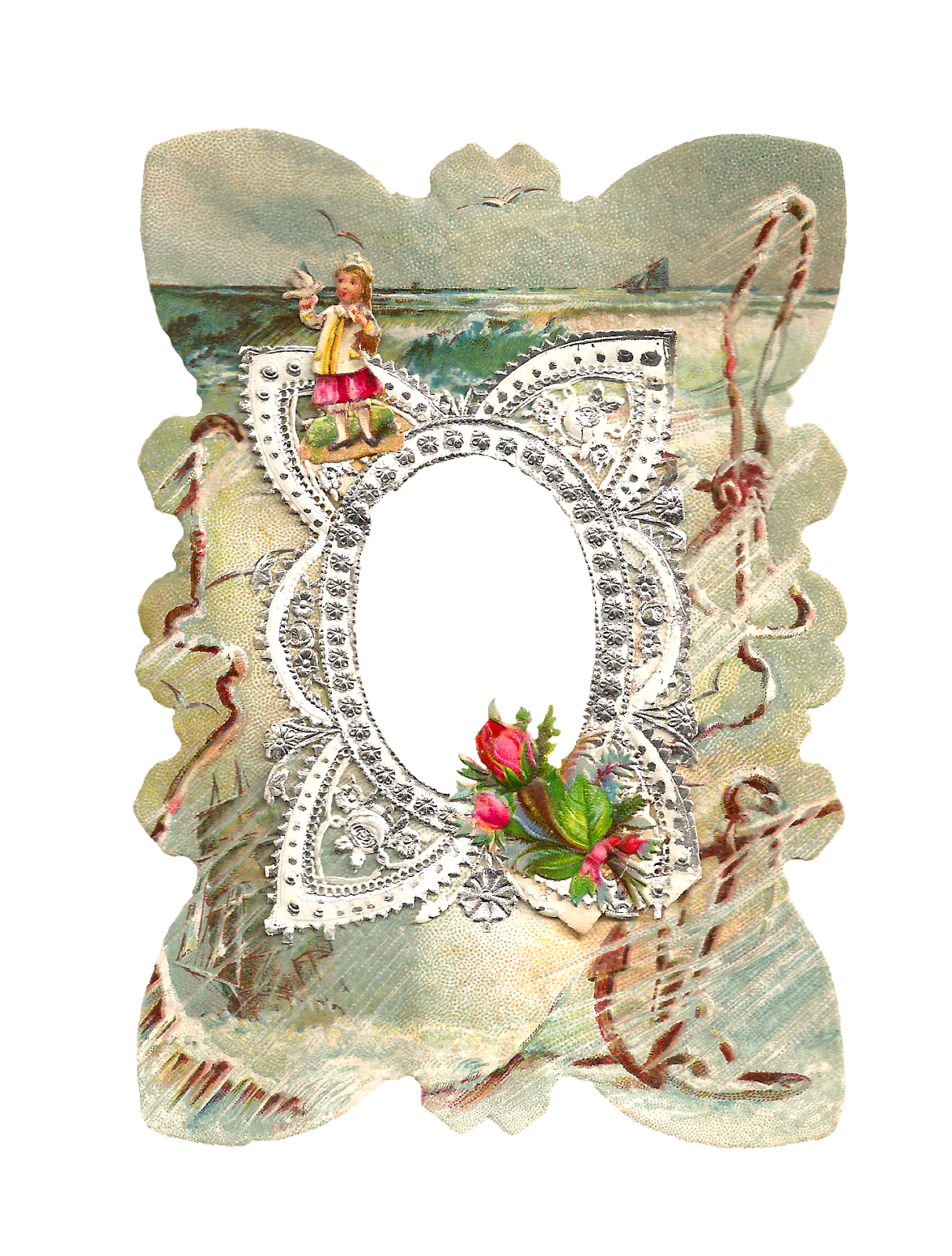 Lace Victorian Frame Clip Art