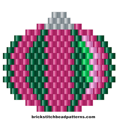 Free brick stitch seed bead weaving pattern color chart.