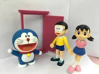 Doraemon Nobita and Shizuka doll