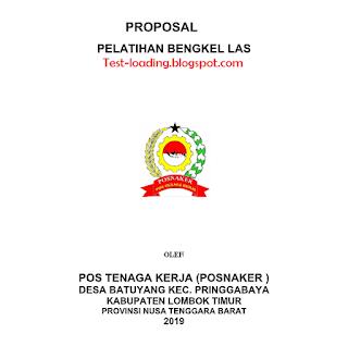 Contoh Proposal Pelatihan Bengkel Las