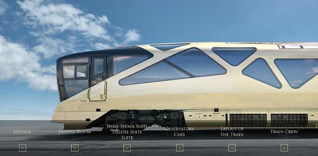 cel mai luxos tren din lume e japonez