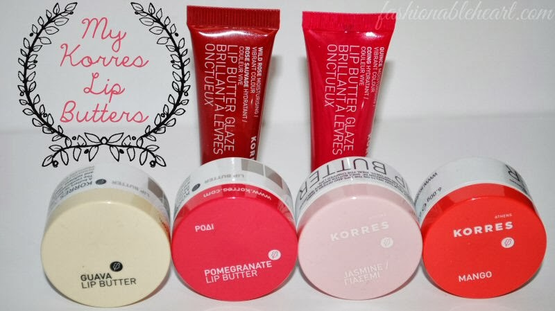 Korres Lip Butter swatches
