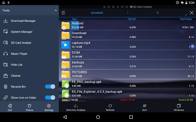 تحميل أفضل تطبيق إدارة الملفات في اَخر إصدار ES File Explorer Pro النسخة المدفوعة مجانا