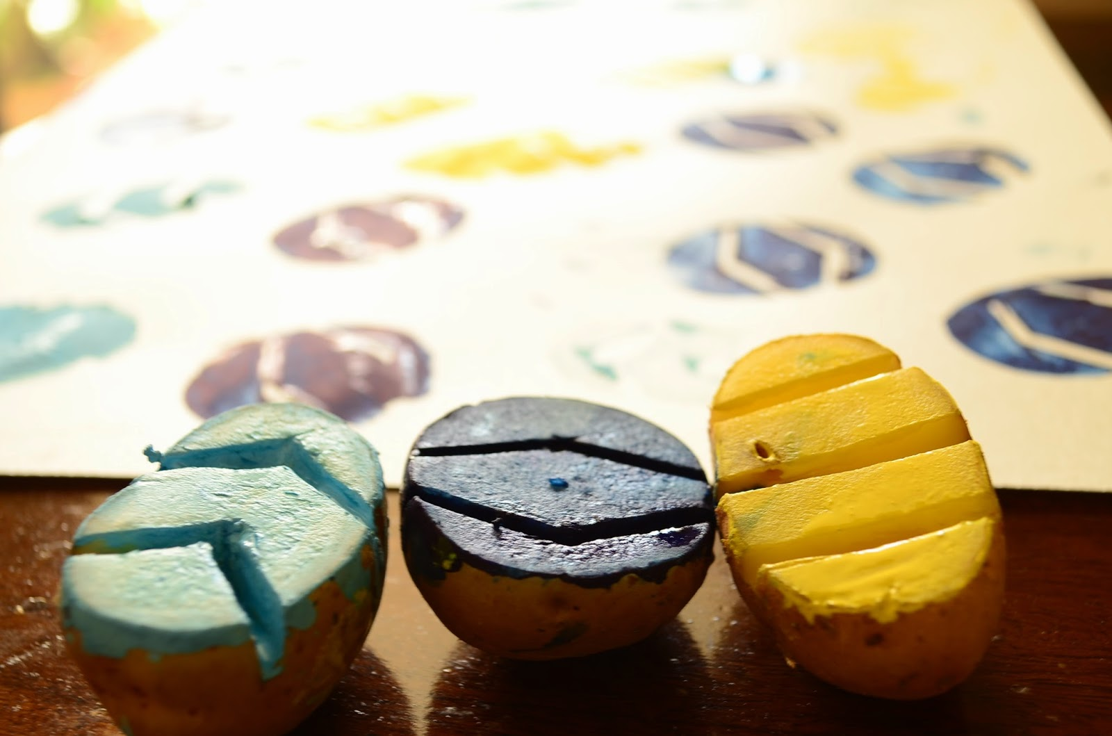 13 Non-Traditional Art Supplies for Preschoolers: Potato Stamps