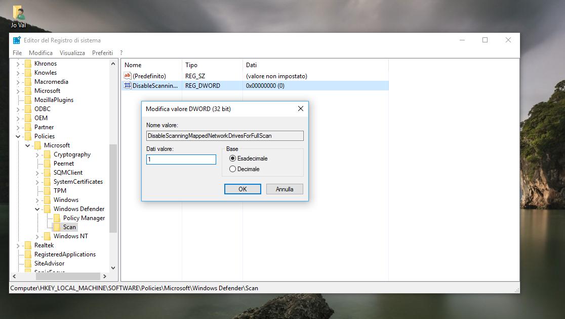 Come abilitare la Scansione dell'Unità di Rete con Windows Defender in Windows 10 5 HTNovo