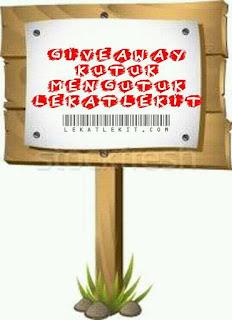Giveaway Mengutuk Blog Lekatlekit.com