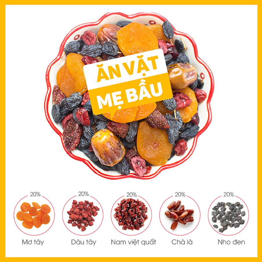 [A36] Mua combo dinh dưỡng Mẹ Bầu Mixnuts và Mixfruits Nhà Đậu