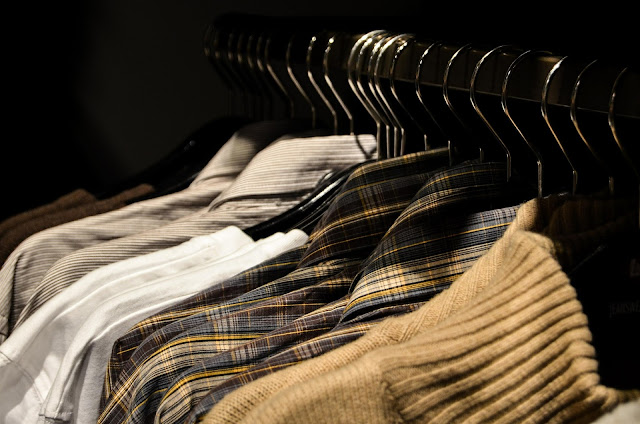 Rack of casual tops