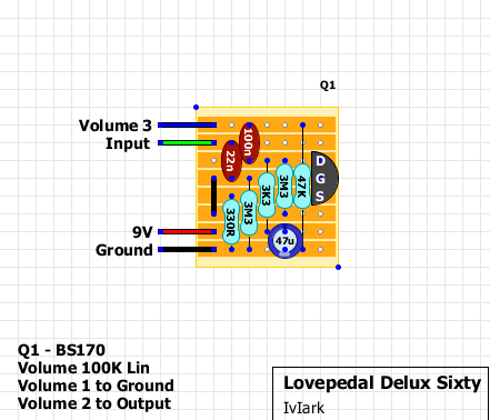 guitar fx layouts lovepedal delux sixty. Black Bedroom Furniture Sets. Home Design Ideas