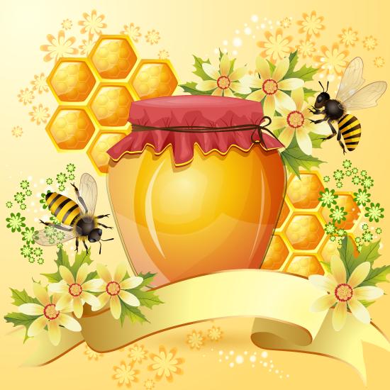 Miel de abeja natural con banda
