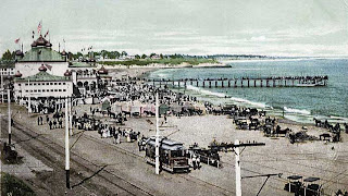 santa cruz california beach in 1904