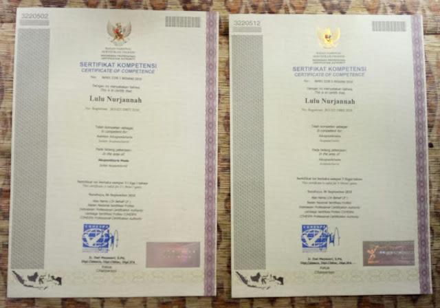 Sertifikat Uji Kompetensi Profesi Akupnkturis (Dasar & Ahli)
