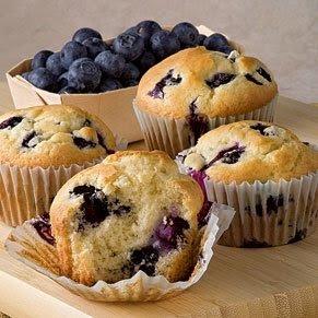 Muffins de Mirtilos e Macã sem açúcar e sem glúten