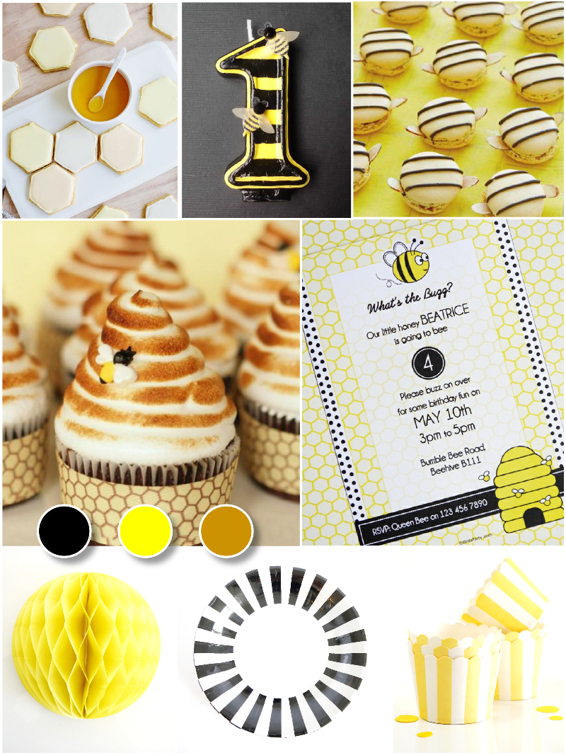 Bee Birthday Inspired Party Ideas - via BirdsParty.com
