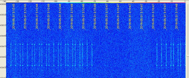 NUSAT-1 spectrum on SpectraVue