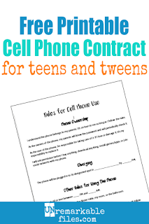 graphic about Printable Cell Phone Contract for Tweens named Unremarkable Documents: Taking My Daughter a Smartphone: 6