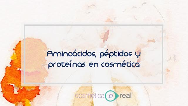 Que es un aminoácido, un peptido y una proteína en cosmética