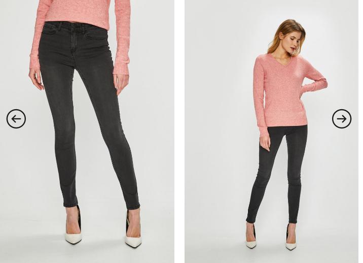 Vila - Jeans negri slimfit moderni