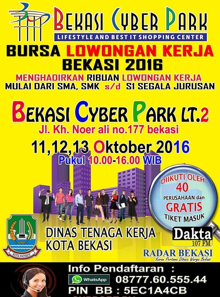 Bursa Lowongan Kerja Bekasi – Oktober 2016