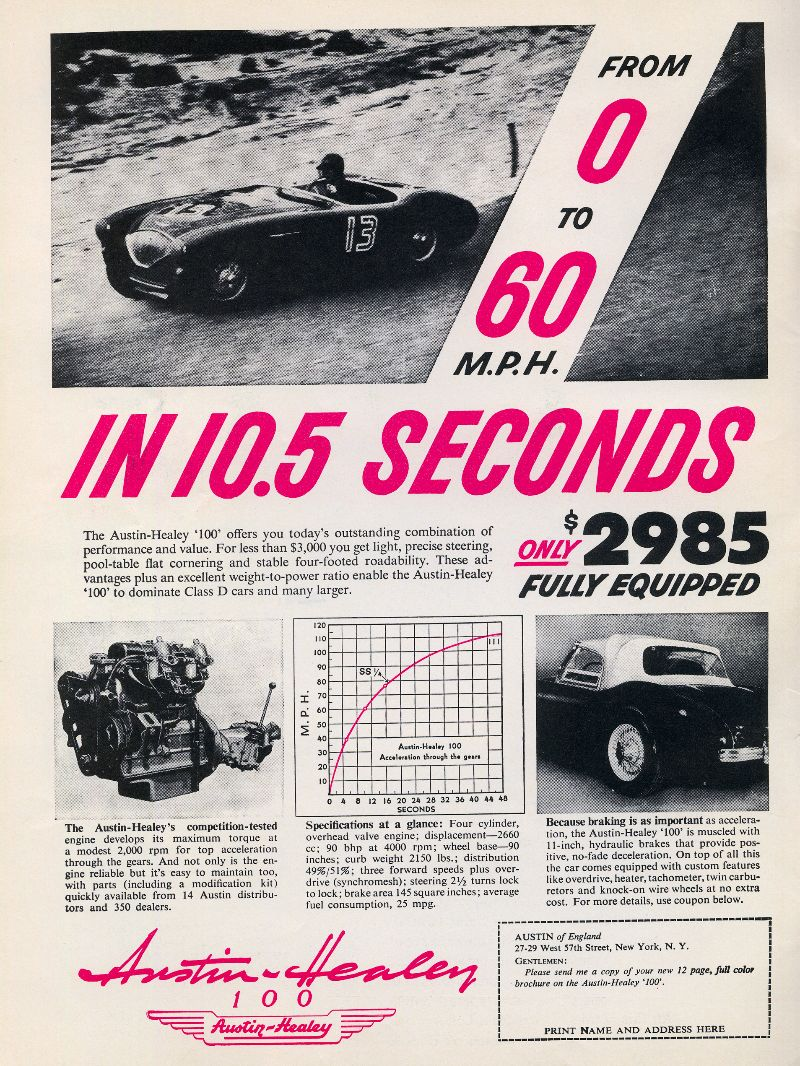 These 44 Vintage Car Ads From The 1950s Are Undeniably Cool Volvo Pv444 Wiring Diagram Electrical Austin Healey 100 September 1955