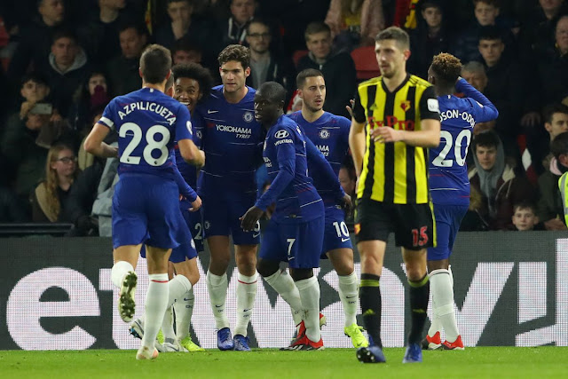 Chelsea Boss Sarri Happy With Win At Watford