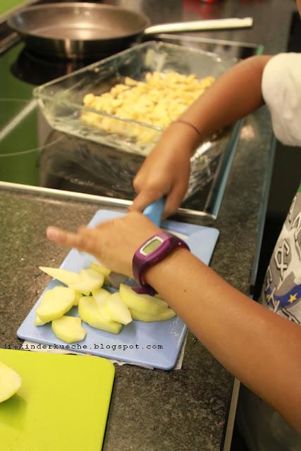 Rezept für schnelles Apple Crumble