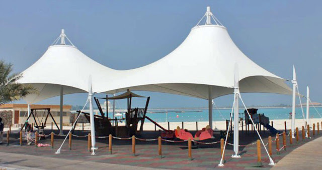 tenda membrane canopy pantai