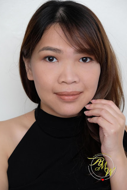 a photo of The Body Shop Luxe Lip Color in Cheeky Peach and Luxe Liquid Lip Review in Barely Nude2 by Nikki Tiu of www.skmewhats.com.