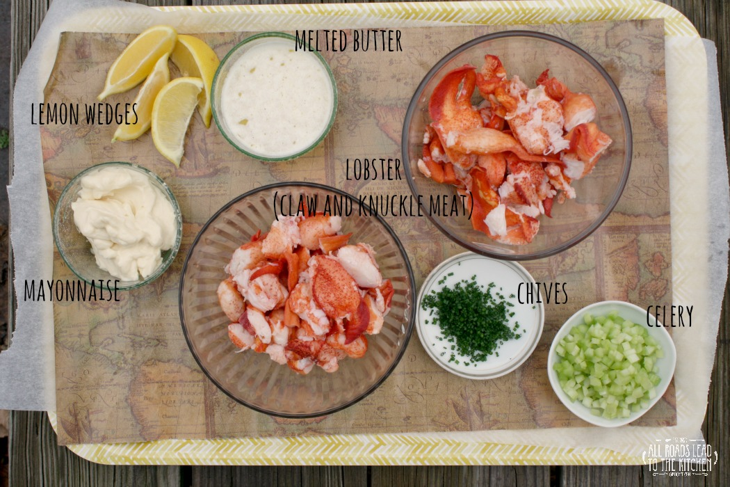 Ingredients for Lobster Rolls