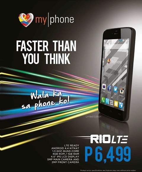 MyPhone Rio LTE: Specs, Price and Availability