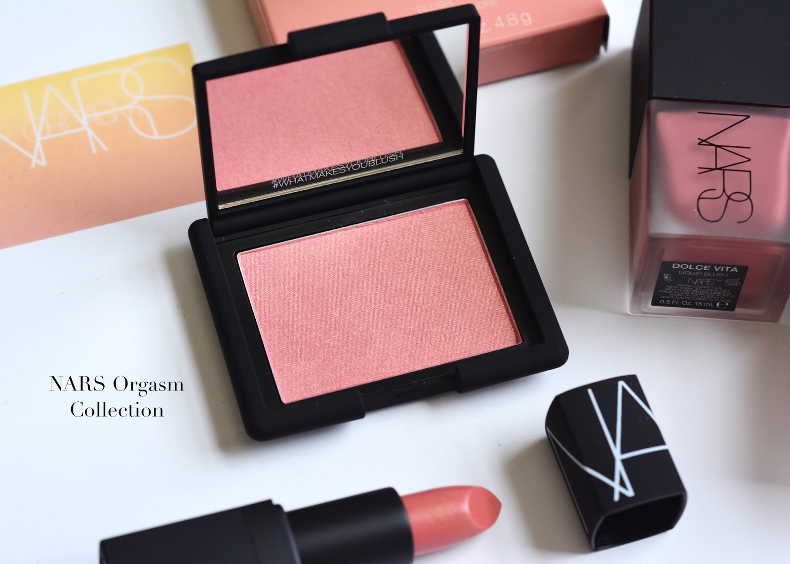 NARS Liquid Blushes Torrid Luster Dolce Vita Orgasm Collection Review Swatches