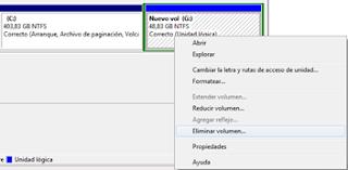 Como crear o eliminar particiones en Windows 7 sin tener que formatear -http://3.bp.blogspot.com/-Z1_SeRDn794/T0vNeY6I5jI/AAAAAAAAABs/7Eik0T7vkVc/s320/Eliminar+volumen.png