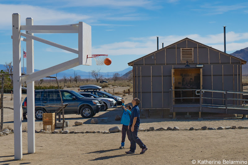 Manzanar Basketball Court California Highway 395 Road Trip Attractions