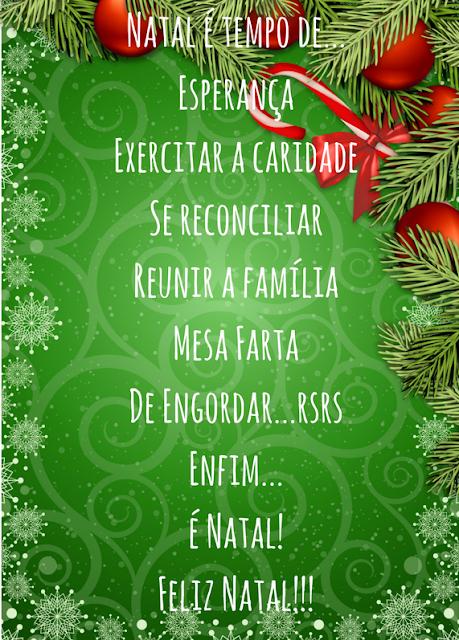 Mensagem de natal - Natal é tempo de...