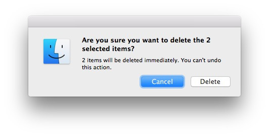 can not empty the Trash in Mac OS X