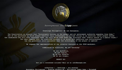 comelec website defaced by hackers