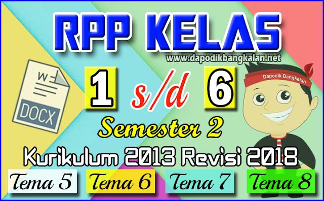 RPP K13 Kelas 1 2 3 4 5 6 Semester 2 Revisi 2018 LENGKAP