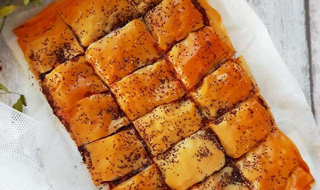 Torta salata al cavolo viola e feta