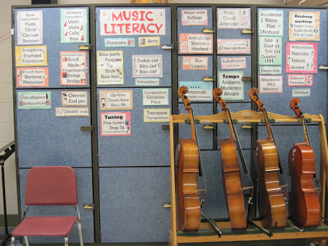 Music literacy word wall words for orchestra room