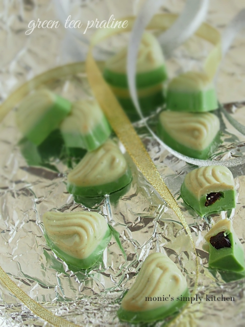 resep membuat green tea praline